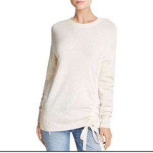 Joie Cashmere Wool Blend Ivory Side Tie Sweater